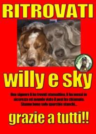 ritrovati willy e sky